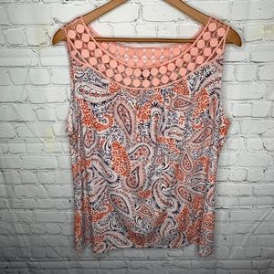 New Directions Sleeveless Blouse Size L